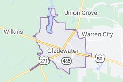 Gladewater TX map