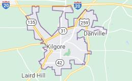 Kilgore TX map