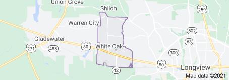 White Oak TX map